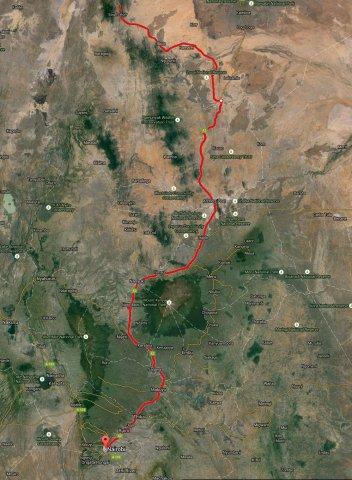 Map Niarobi to South Horr