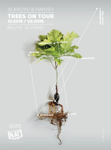 Poster image, Beuys' Acorns: trees on tour 2015